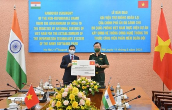 India's Assistance for Army Software Park at TCU, Nha Trang