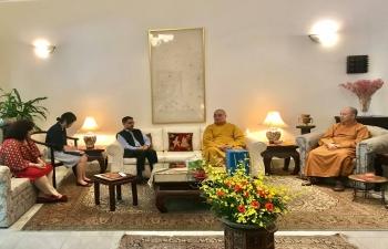 Ambassador hosts Leaders of Vietnam Buddhist Sangha