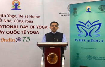 India@75: On-line Event to Introduce WHO mYoga App