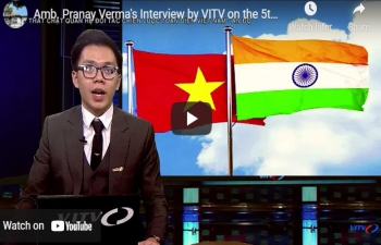 Amb. Pranay Verma's Interview by VITV on the 5th Anniversary of India-Vietnam CSP