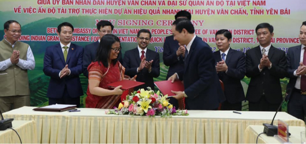Signing of MOU for Quick Impact Project in Yen Bai Province