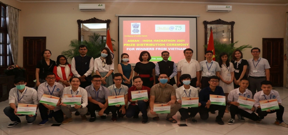 ASEAN-India Hackathon Prize Distribution at Embassy